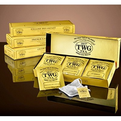 シンガポールの高級紅茶TWGシリーズ(Classic Teabag Selection 3種類×5パック ) ENGLISH BREAKFAST,FRENCH EARL GRAY,CHAMOMILE...