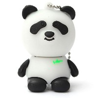 Panda Bear USB Flash Drive 8GB - Memory Stick Data Storage - Pendrive - White and black