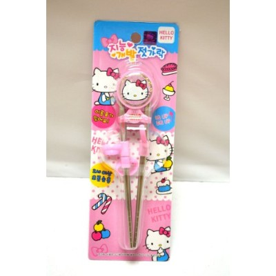 Hello Kitty Stainless Steel Training Chopsticks by RaOn