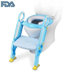 OstrichトイレPottyステップトレーナーfor Kids and ToddlersトレーニングSeat ブルー COMINHKG119995