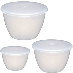 Kitchencraft Plastic Pudding Basin最大3のセット、kcpud1 kcpud2 kcpud3