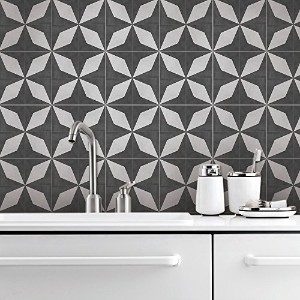 Tiles adhesivos Decals - Pack de 10 azulejos - 10個のタイル - タイルデカール (Four-pointed Star Tile Decal, 5.9...