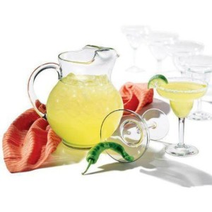 Libbey 7ピースCancun Margarita Pitcher and Glassware set includes 6255Margarita Glasses and 189.5...
