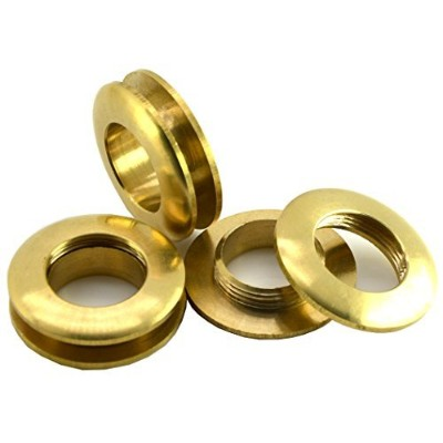 "(Diameter 1-1/8"" 28mm) - Okones 10Pcs 1-1/8"" Diameter Solid Brass Grommet Eyelets buckle Scrapbook..."