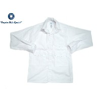 POST OVERALLS(ポストオーバーオールズ)/#1231L TOWN & COUNTRY COTTON BROADCLOTH SHIRTS/white