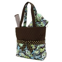 Belvah Quilted Floral 3pc Diaper Bag (Brown/ Lime) by Belvah [並行輸入品]