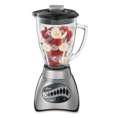 Oster 6811 6-cupガラスJar 12-speed Blender、つや消しニッケル
