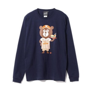 The Wonderful! design works. / Fast Food BEAR Long Sleeve Tee【ビームス メン/BEAMS MEN メンズ Tシャツ・カットソー NAVY...