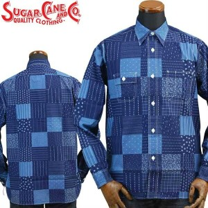 シュガーケーンSUGARCANE FICTION ROMANCE ワークシャツ「4.5oz.PATCHWORK PRINT WORK SHIRT」SC27843