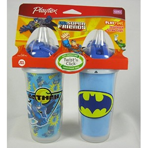Playtex DC Super Friends Playtime Insulated Straw Cups No BPA by Playtex