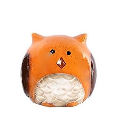 Ceramic Harvest Owl Scrubby Sponge Holder - Orange by TII