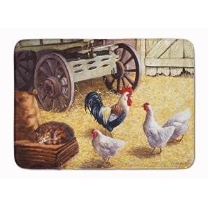 """Caroline 's Treasures bdba0339rug """" Rooster and hens chickens in the Barn """"フロアマット、19"""" x 27インチ..."""