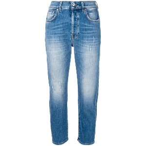 7 For All Mankind ダメージ クロップドジーンズ - ブルー