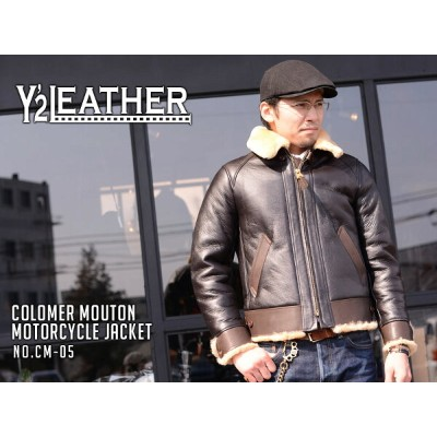 【Y'2 LEATHER/ワイツーレザー】ジャケット/COLOMER MOUTON MOTORCYCLE JACKET /CM-05★REAL DEAL