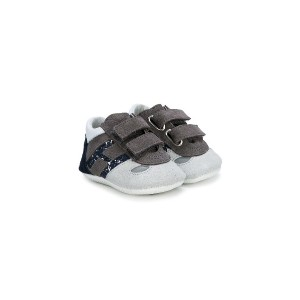 Hogan Kids contrast panel pre-walkers - グレー
