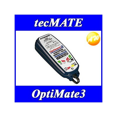 OPTIMATE3 オプティメイト3 バッテリー充電器 テックメイト TECMATE バッテリーメンテナー 12V専用【コンビニ受対応商品】