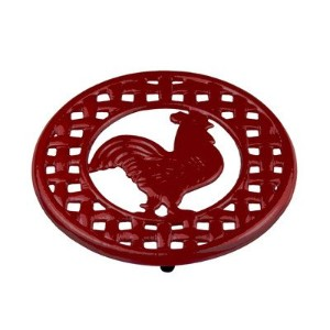 Home Basics Cast Iron Rooster Trivet (Red) by HDS Trading