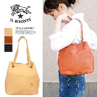 【IL BISONTE】イルビゾンテ #A2668P 2wayバッグCARAMEL(145)/NATURALE(120)/NERO(153)レディース バッグ 本革 レザートートバッグ...
