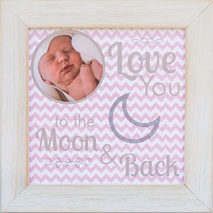 The Grandparent Gift Frame, Baby Girl Moon and Back by The Grandparent Gift Co.