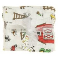 Imagine Baby Products Bamboo Swaddling Blanket (Barnyard Jam) by Imagine Baby Products