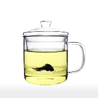 Unihom–ガラスAll in One Tea Cup with Infuserと蓋 70ty 450ml クリア 70ty-i