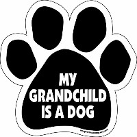 High quality Paw Car Magnet, My Grandchild is a Dog, 5-1/2-Inch by 5-1/2-Inch
