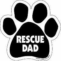 High quality Paw Car Magnet, Rescue Dad, 5-1/2-Inch by 5-1/2-Inch