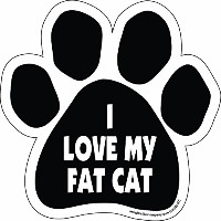 High quality Paw Car Magnet, I Love My Fat Cat, 5-1/2-Inch by 5-1/2-Inch