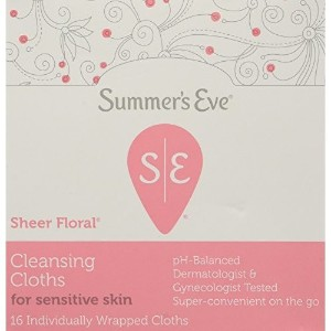 海外直送品Summers Eve Summers Eve Feminine Cleansing Cloths Sensitive Skin Sheer Floral Summers, Sensitive Skin Sheer Floral Summers 16 each (Pack of 5)