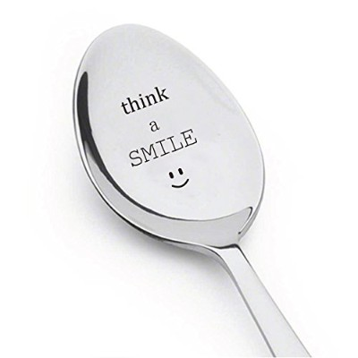 Think a Smileコーヒースプーン – Tea Cereal Breakfast – Best Sellingアイテム – のギフト – Gift for Her – スプーンギフト