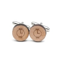 Round Watch Cufflinks , Wood Cufflinks Hand Made In The USA