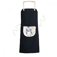 Cartoon Cute Heart-shaped Bird Protect Animal Pet Lover Cooking Kitchen Black Bib Aprons With...