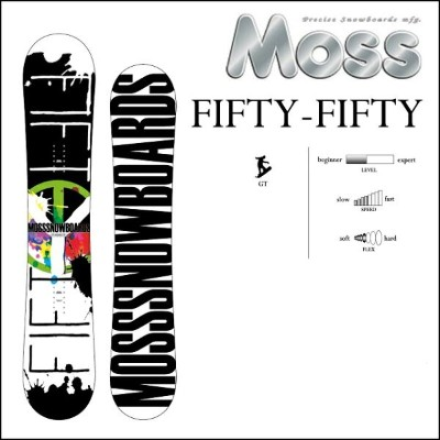 18-19 MOSS モス スノーボード FIFTY-FIFTY フィフティーフィフティー fiftyfifty