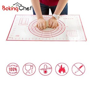 2PC /セットLarge + Small Silicone Baking MatピザDoughメーカーPastryキッチン調理用品ガジェットBakeware Supplies