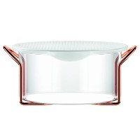 Bodum Hot Pot Bakeware Dish withシリコン蓋&銅スタンド、2.0 L / 68 oz / large ,銅