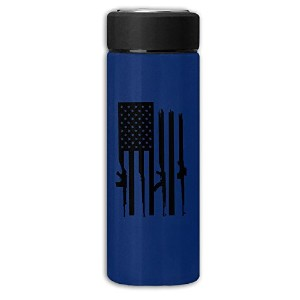 American Flagガン真空カップステンレススチールDull Polish Travel Mug with Tea Leafフィルタ、Commercial Vacuum Jug One...