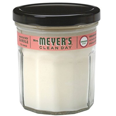 Mrs。Meyer 's Soy Candle–ゼラニウム7.2oz