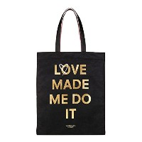 VICTORIA'S SECRET (ヴィクトリアシークレット) バッグ トートバッグ ブラック×ピンク Love Made Me Do It Tote [並行輸入品]