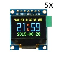 ILS - 5 pieces 0.95 Inch 7pin Full Color 65K Color SSD1331 OLED Display SPI For Arduino