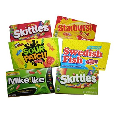 アメリカ定番キャンディ詰め合わせ Assorted Candies from America (Skittles-Original, Skittles-Sour, Starburst,...