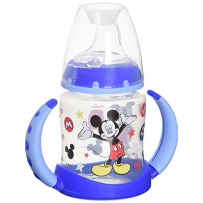 NUK Disney 5 Ounce Learner Cup with Silicone Spout, Mickey Mouse, 2 Count by NUK