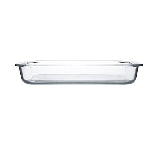 HaloVa Bakeware、強化ガラスBaking Dish、クリエイティブ長方形熱抵抗ガラスBaking Tray for Baking and Cooking 1.4 quart