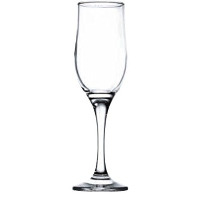 (200ml, Clear) - Circleware Concord Street Glass Champagne Flute Wine Drinking Glasses (Set of 6), Clear, 200ml