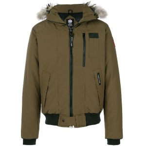 Canada Goose hooded puffer jacket - グリーン