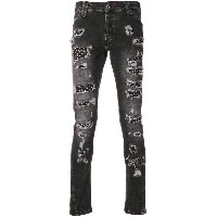 Philipp Plein distressed skinny jeans - ブラック