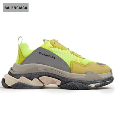 BALENCIAGA バレンシアガ 2018年春夏 Triple S low-top trainers athletic shoes Neon-yellow