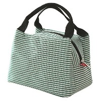 Goodidus Striped Lunch Bag,Waterproof Oxford Cloth Lovely Lunch Bag Bento Lunch Box Package (Green)...