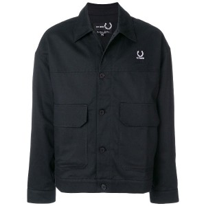 Raf Simons X Fred Perry tape detail jacket - ブラック