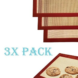 3Pack x Large Silicone Baking Mat Non Stick Heat Resistant LinerシートPastryオーブントレイ(米国から出荷)