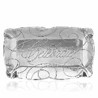 Wendell August Forge Celebrate Baroque Rectangle Tray, Small, Silver by Wendell August Forge